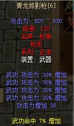 青龙掠影枪武功120强6