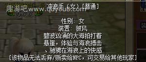 热血江湖冲浪手(女)女披风图片