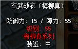 玄武战衣(梅柳真)白甲